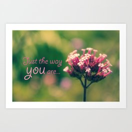 Spring Blooming Pink Flowers with Green Bokeh Background Art Print