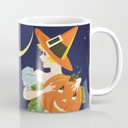 Vintage Halloween Costume Party Pumpkin Carving Coffee Mug