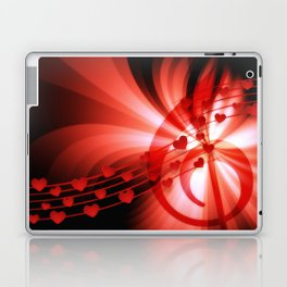 Music Hearts Abstract Background Laptop & iPad Skin