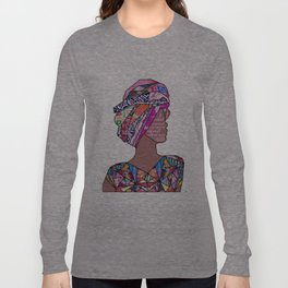 Woman in Colors - 7 - A pedestal is as much a prison as any small, confined space. Long Sleeve T-shirt