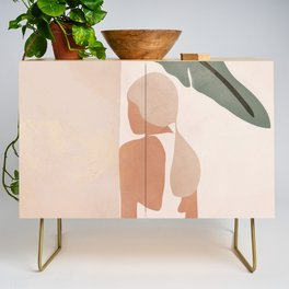 Abstract Woman in a Dress Credenza