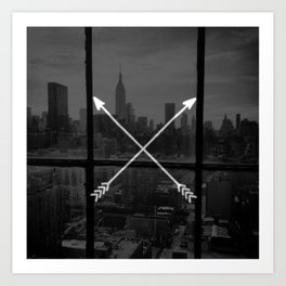 arrows in the city Art Print
