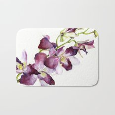 Radiant Orchids: Magenta Dendrobiums Bath Mat