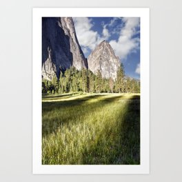 Cathedral Rocks in Yosemite Valley Art Print