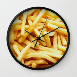 French fries pattern  Wall Clock