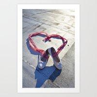 Love doesn't walk away, people do Art Print