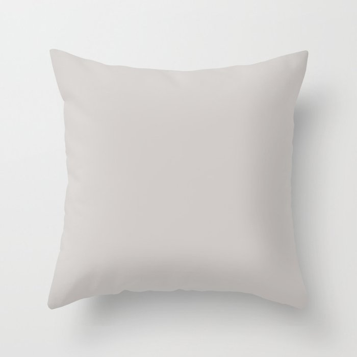 Smoke Light Pastel Gray Solid Color Pairs with Sherwin Williams 2020 Forecast Colors Grayish SW6001 Throw Pillow