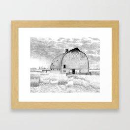"Farm Lanscape - ""Heritage Homestead"" Barn Drawing Framed Art Print"