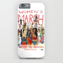 Women's March 2017 iPhone Case