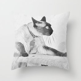 Moving On Up Throw Pillow