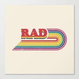 Rad Rainbow Canvas Print