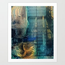 Ascent // abstract modern painting Art Print