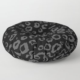 Black and Gray Leopard Floor Pillow