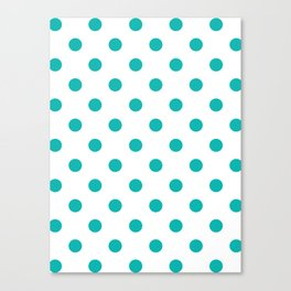 Blue Polka Dots Canvas Print