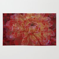 techno Area & Throw Rugs featuring Techno Asian by DesignsByMarly