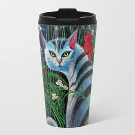 Cat in the Night Travel Mug