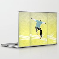 skateboard Laptop & iPad Skins featuring Skateboard 3 by Aquamarine Studio