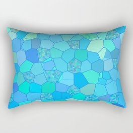 Berzerk Berry Blue Rectangular Pillow