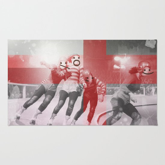 Punchtuation Roller Derby Rug