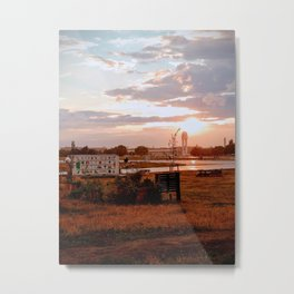 Sunset at Tempelhofer Feld - Berlin Metal Print