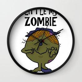 Little Ms Zombie Wall Clock