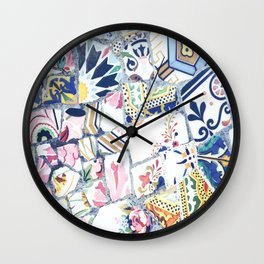 Gaudi Park Guell Mosaic Wall Clock