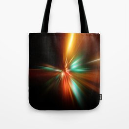 abstract acceleration speed motion on night road Tote Bag