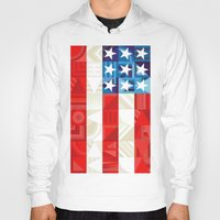 america Hoodies featuring America by Fimbis