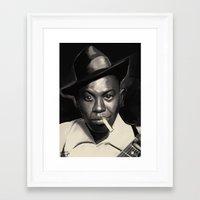 allyson johnson Framed Art Prints featuring Robert Johnson by Brad Collins Art & Illustration