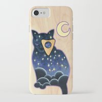 ouija iPhone & iPod Cases featuring Ouija Cat by Kiki Stardust (OLD)
