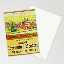 Vintage 1866 Wine Bottle Label Klusserather Bruderschaft Stationery Cards