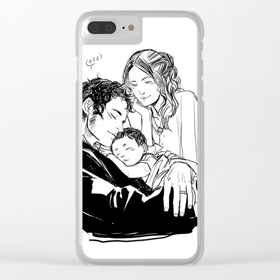 Loving Family Clear iPhone Case
