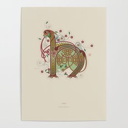 Celtic Initial H Poster