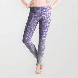 Unicorn Purple Glitter Marble Leggings