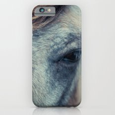 Blue grey horse iPhone 6s Slim Case
