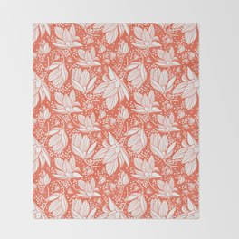 Magnolia Shower Throw Blanket