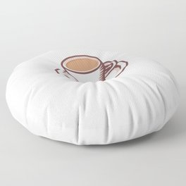 I Don't Need Therapy I Need To Drink Tea - Chai Tea Latte Floor Pillow