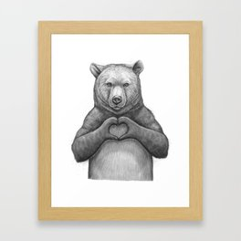 Bear with love Framed Art Print