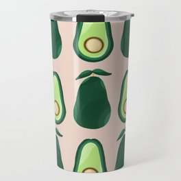 Avocados pattern - green and pink Travel Mug