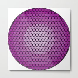 vivid hexagons Metal Print