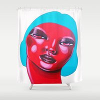 bubble Shower Curtains featuring BUBBLE by Zelda Bomba
