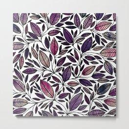 Floral Illustration - Leaf - No*45 Metal Print