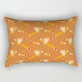 Cat mischief with pencils Rectangular Pillow