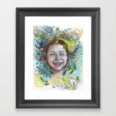Giggle Framed Art Print
