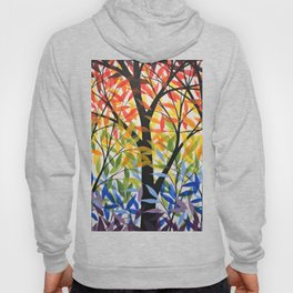 Abstract Art Original Landscape Painting ... Spectrum of Trees Hoody