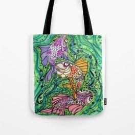 Three Little Fish Tote Bag