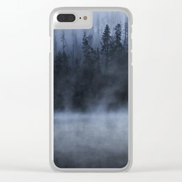 Early Morning Fog on the Yellowstone River Clear iPhone Case