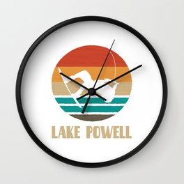 Lake Powell  TShirt Wakeboarding Shirt Wakeboarder Gift Idea  Wall Clock