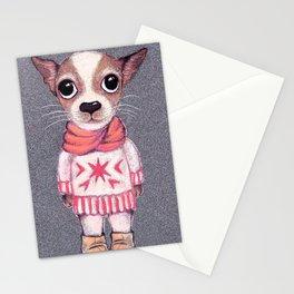 Funny little dog. Stationery Cards