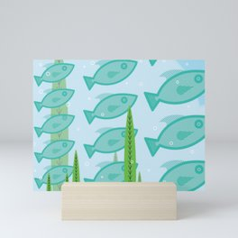 schooling fish Mini Art Print